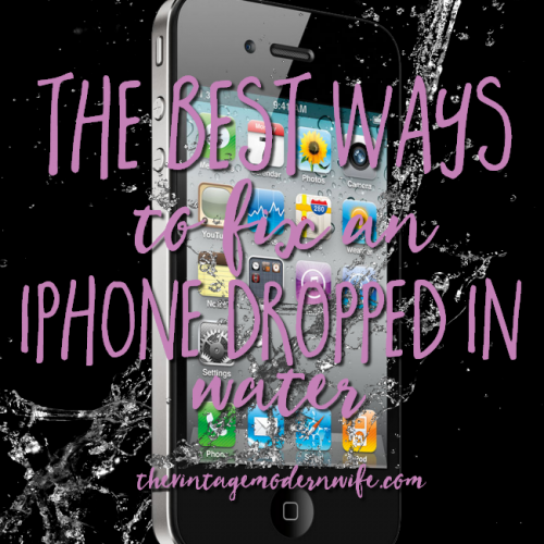 Dropped your iPhone in water? The Vintage Modern Wife has great tips and tricks on how to save your iPhone. I'm loving this list!