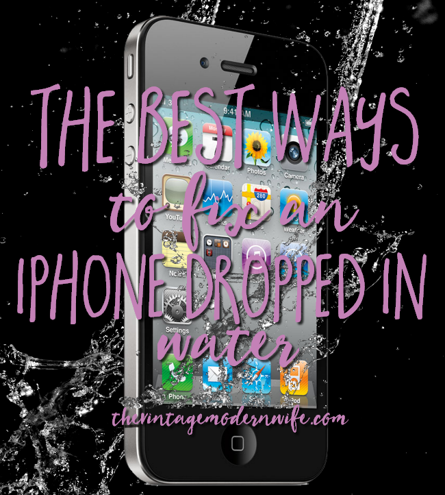 The best ways to fix an iphone in water for Dropped iphone in swimming pool