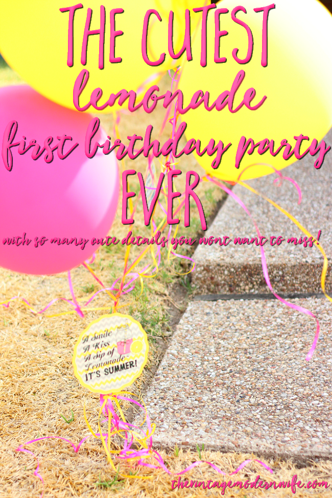 Looking for lemonade first birthday party ideas? The Vintage Modern Wife has SO many cute ideas and has great attention to detail! This post has so many great ideas for lemonade birthday parties!