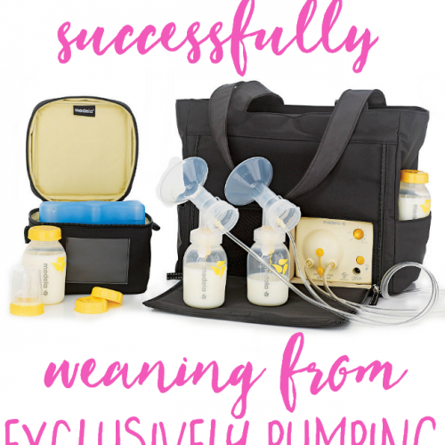 These truly are the best tips for successfully weaning from exclusively pumping! I love that she pumped for so long and had a great method to weaning without ANY pain or discomfort! Love these tips!