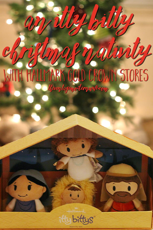 An itty bitty christmas nativity with hallmark Modern family christmas special