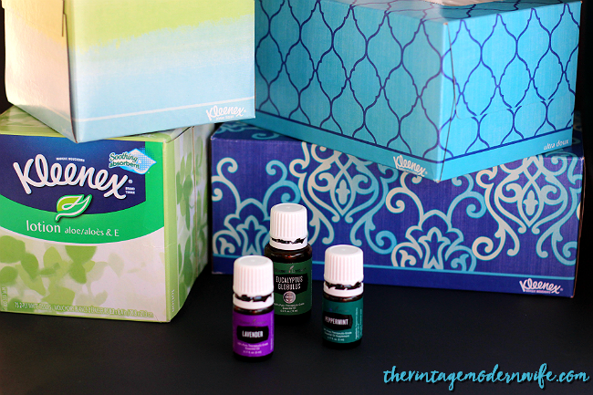 Soothe your nose this winter with Young Living Essential Oil infused tissues with Kleenex brand! This tutorial is super easy and you'll be so happy with yourself for keeping your home chemical free! #ShareKleenexCare #Walmart #ad