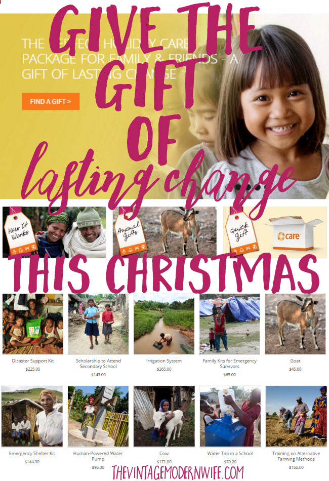 Give the gift of lasting change this Christmas and give someone in need something more valuable and precious than the typical Christmas gift!