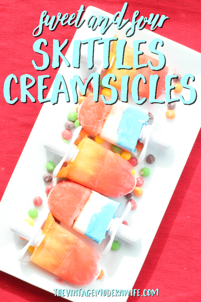 I'm in love with these Sweet and Sour Skittles Creamsicles. They're so delicious and so easy that kids can make them. Yum! #Buy2Get2 #ad