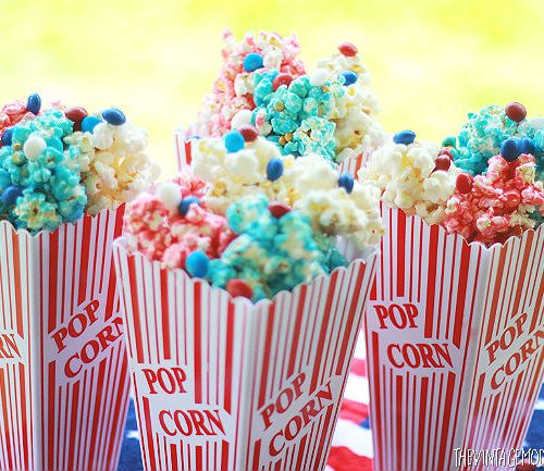 Looking for one delicious 4th of July treat? This 4th of July Popcorn with Skittles America Mix is sweet, salty, sticky, and down right delicious! It's perfect for any 4th of July party! #buy2get2 #ad