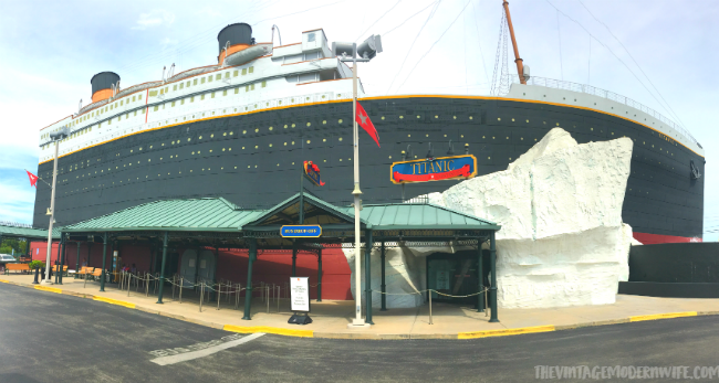 Visiting the Titanic Museum is a perfect museum to visit in Branson for the Titanic fan! #ExploreBranson
