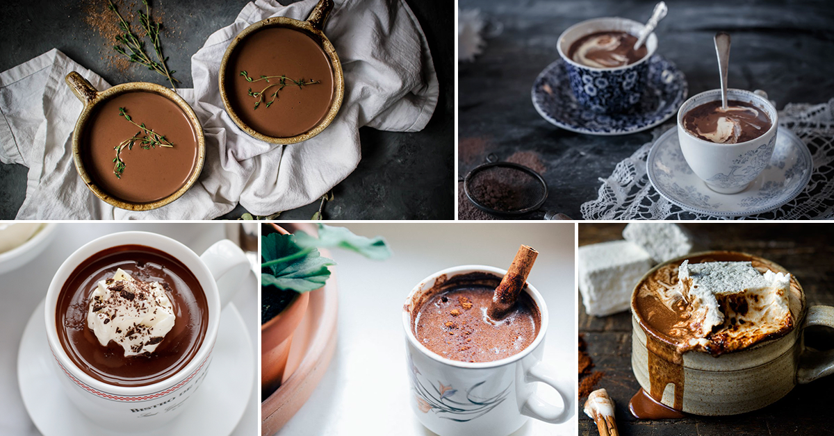 Tired of boring hot chocolate? Try one of these 20 mouthwatering hot chocolate recipes by The Vintage Modern Wife!