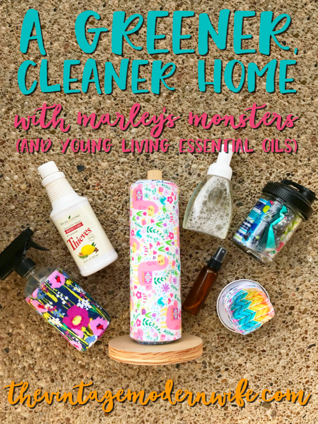 Turn your home into a greener, cleaner home with sustainable products from Marley's Monsters and Young Living essential oils. These DIYs are easy to make and cost pennies!