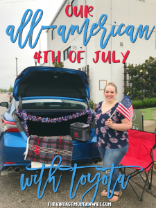 Check out how The Vintage Modern Wife and her family had an all-American 4th of July with Toyota!
