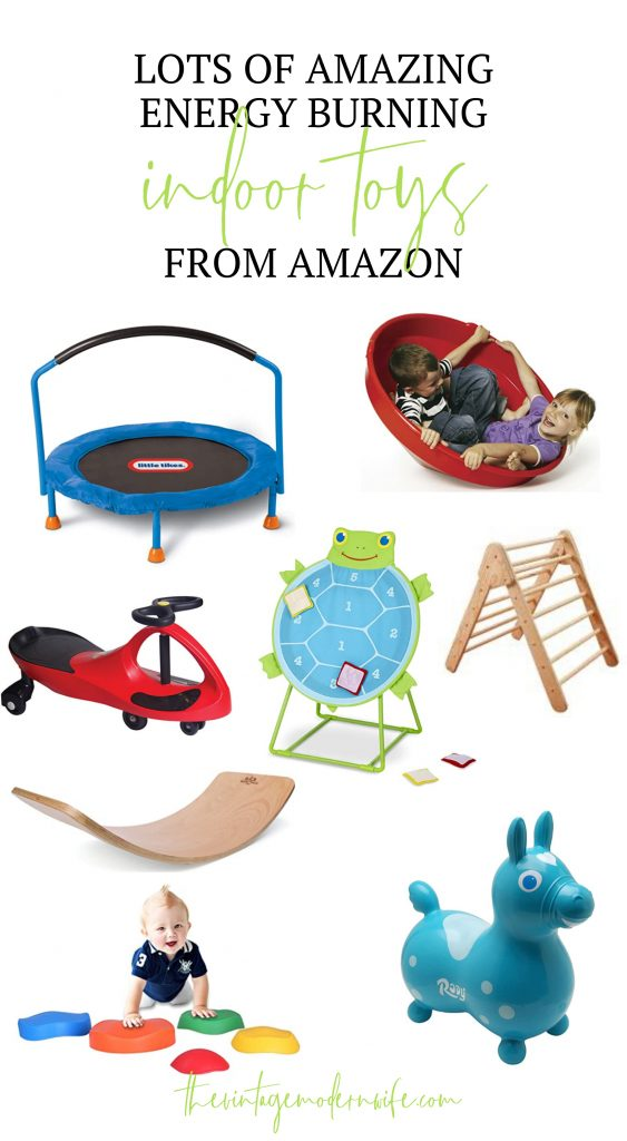 Looking for energy burning indoor toys to break up your kid's boredom? Look no further than this huge list!
