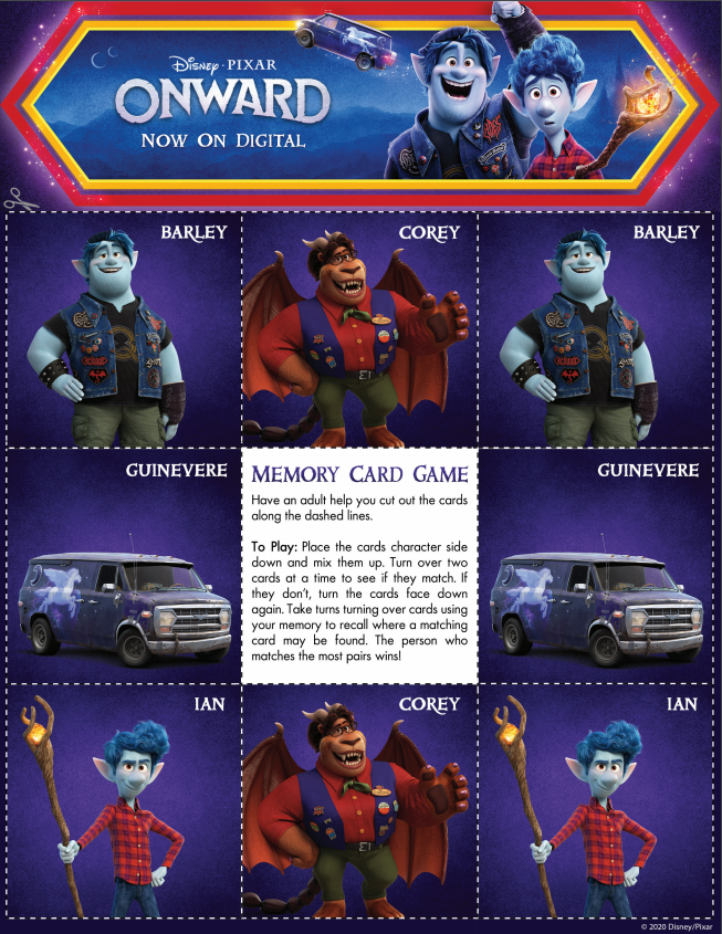 Having a movie night? These Disney + Pixar Onward Movie Night Activities are perfect now that Onward is on Digital! Download the movie and activities here!