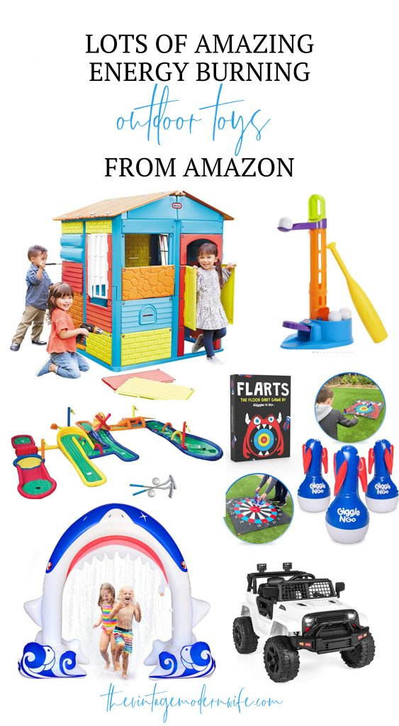 Looking for energy burning outdoor toys to break up your kid's boredom? Look no further than this huge list!