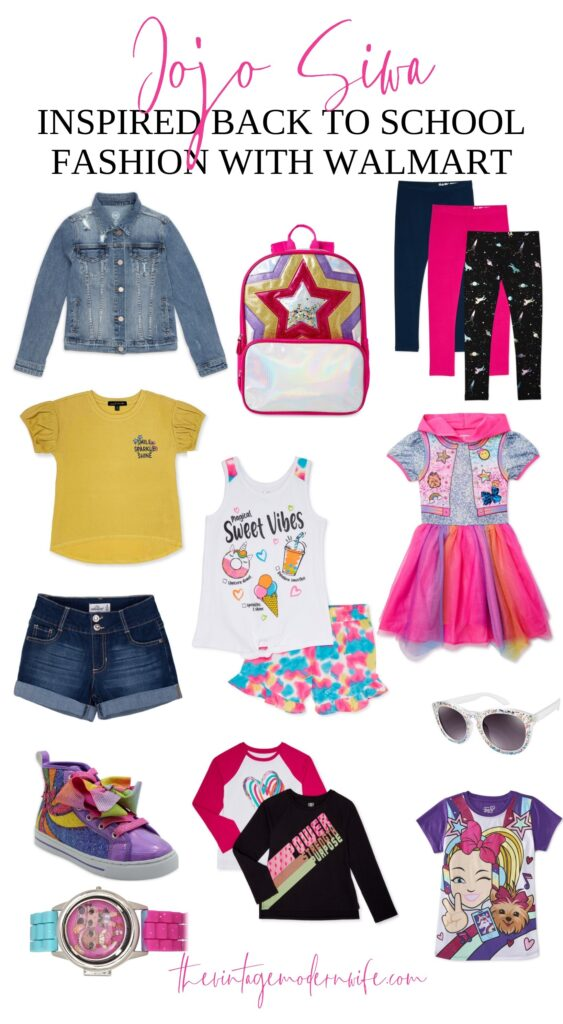 Whether you're looking for Back to School fashion for home schooling, virtual learning, or in person- this list of Jojo Siwa back to school fashion is perfect for the girl that loves color!