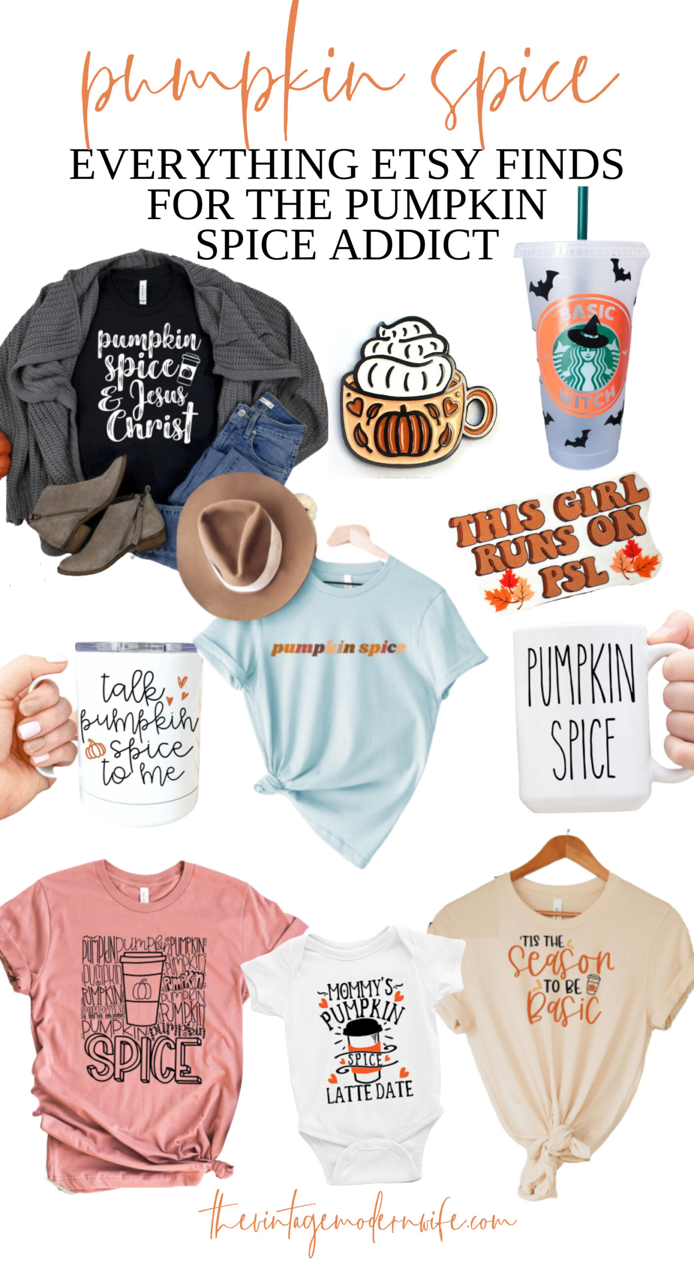 Pumpkin Spice addict? This round up has pumpkin spice everything Etsy finds has something for every PSL fan!