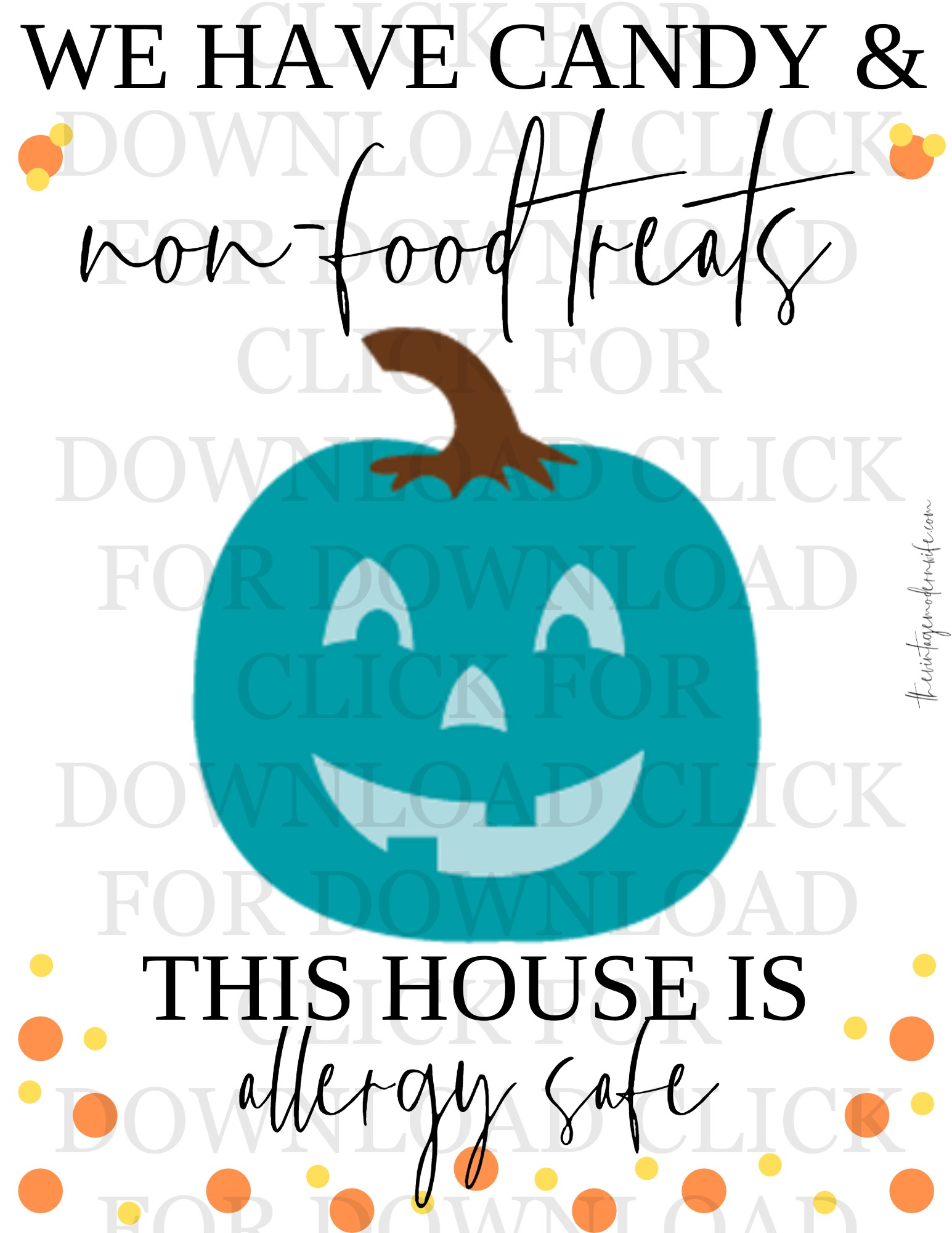 teal pumpkin project printable
